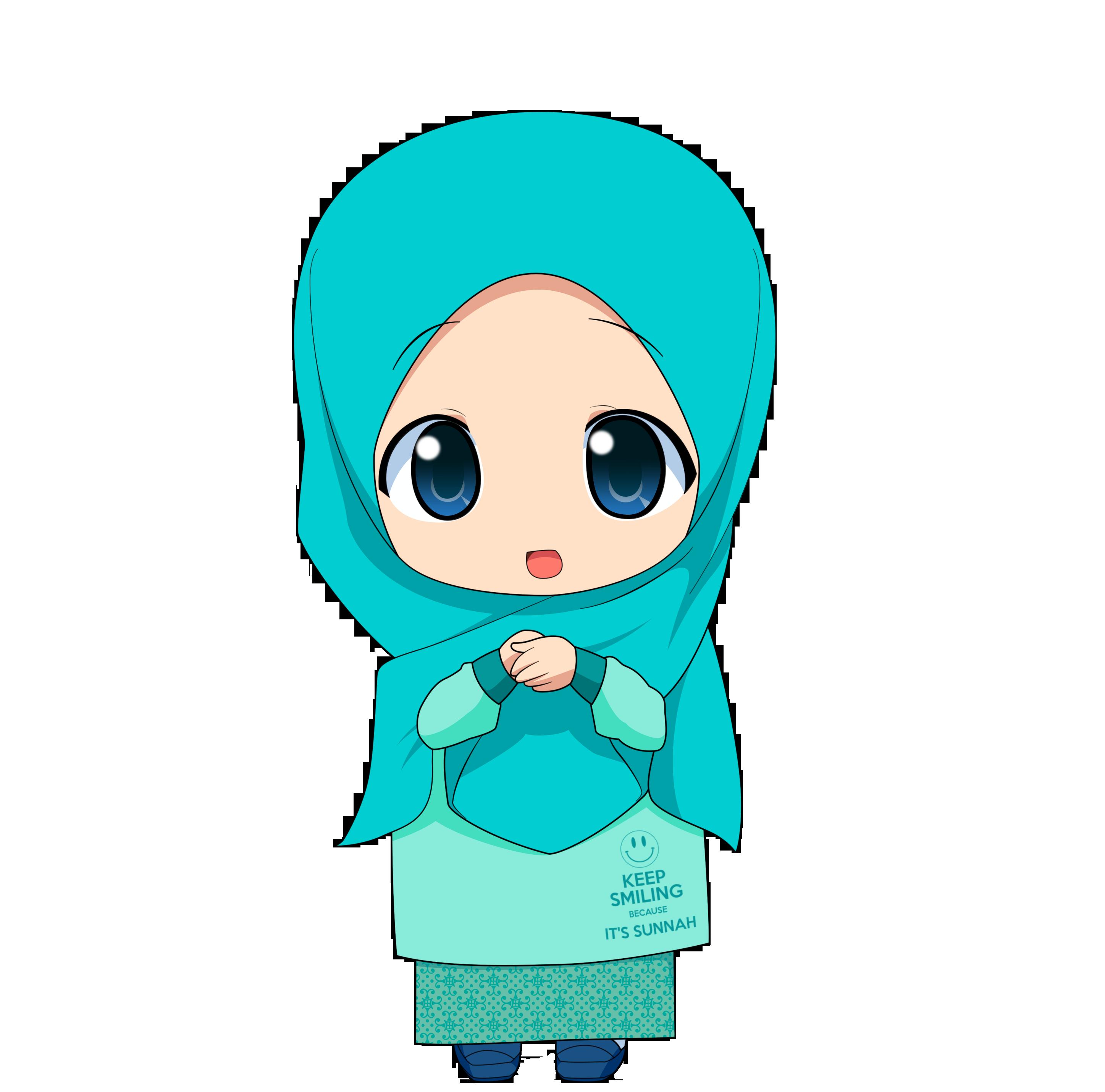Gambar Kartun Muslimah Cilik Top Gambar