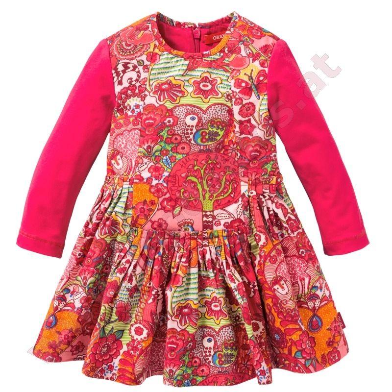 oilily dress destany animali pink  kleider für mädchen