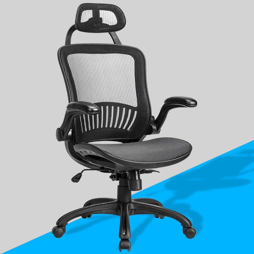 Computer desk office chair ergonomic executive mesh task