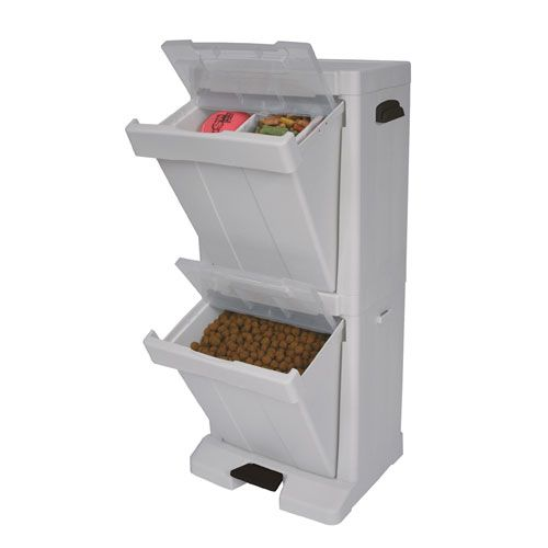 Great Pet Stuff Tower Food Storage Bin   This Is A Nice Way To Store Either Food