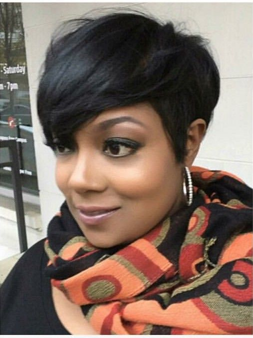 Simple, clean look | Short weave hairstyles,