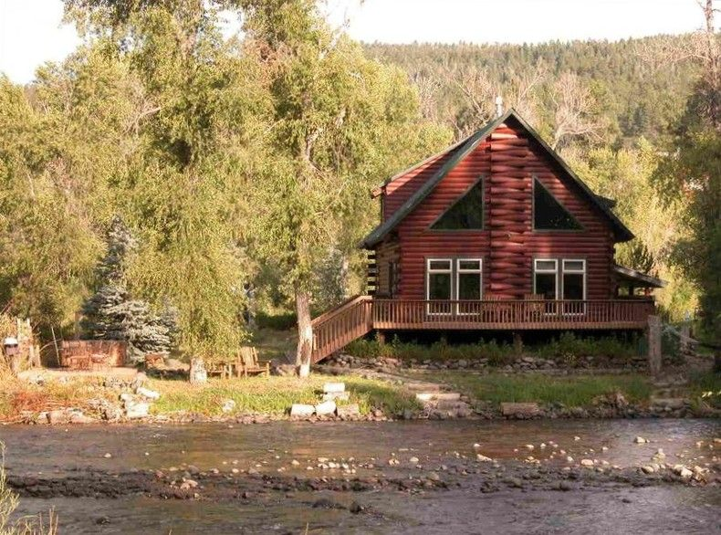 Pagosa Springs Cabin Rental: San Juan Riverfront Log Home Aka U0027the Lazy  Bearu0027