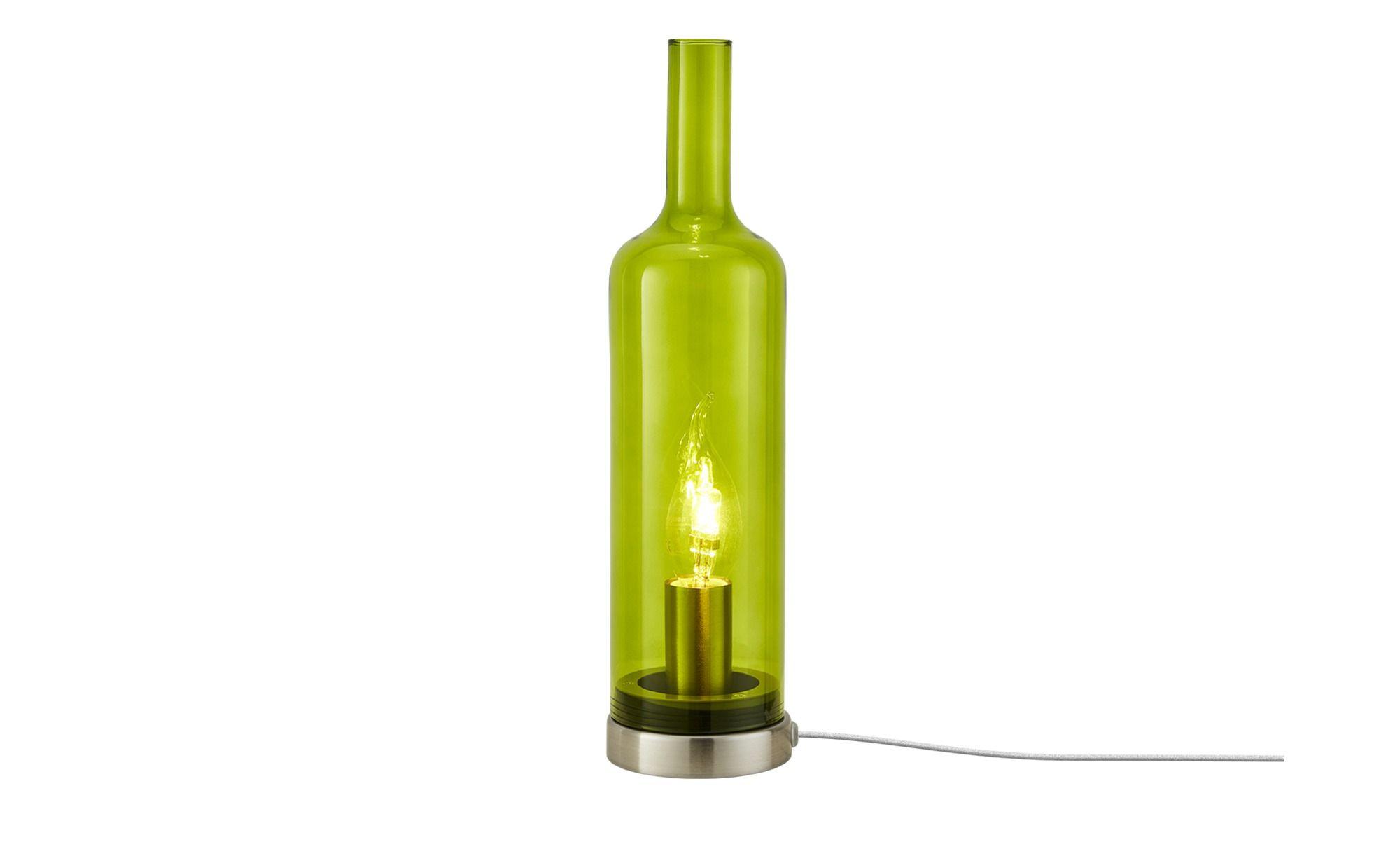 Glastischleuchte In Flaschenform In 2020 Lampen Und Leuchten Lampen Glas Material