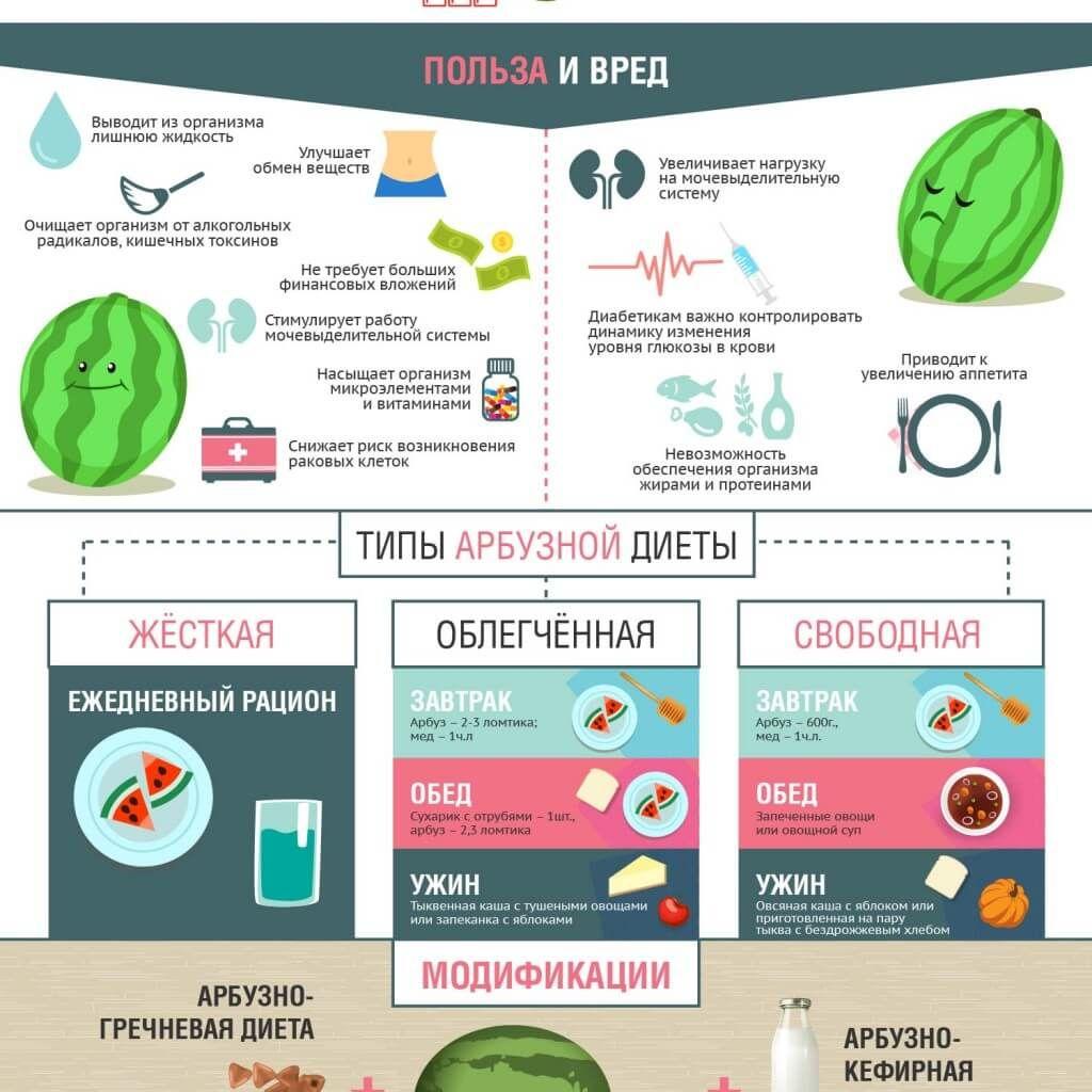 Вред арбузной диеты