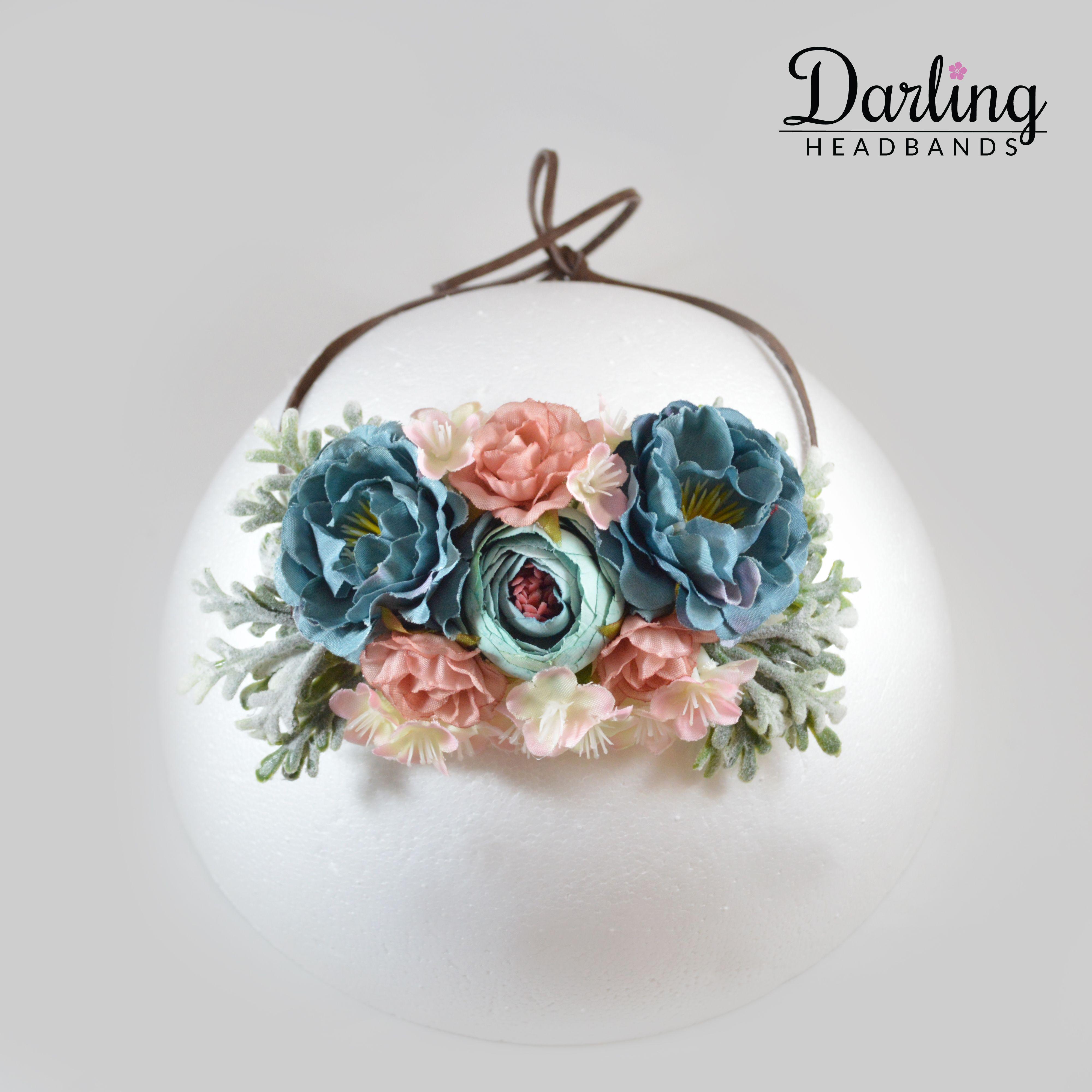 Pink Blue Flower Headbands Darlingheadbands Pinterest Blue