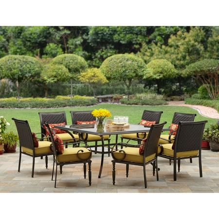Better Homes and Gardens Englewood Heights 9 Piece Patio Dining Set  Seats 8. Better Homes and Gardens Englewood Heights 9 Piece Patio Dining