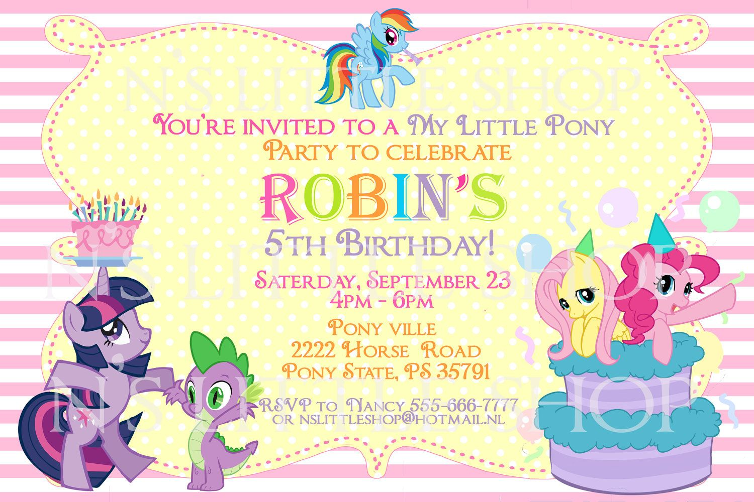 My Little Pony Invitation Idea My Little Pony Party Little Pony Party My Little Pony Invitations