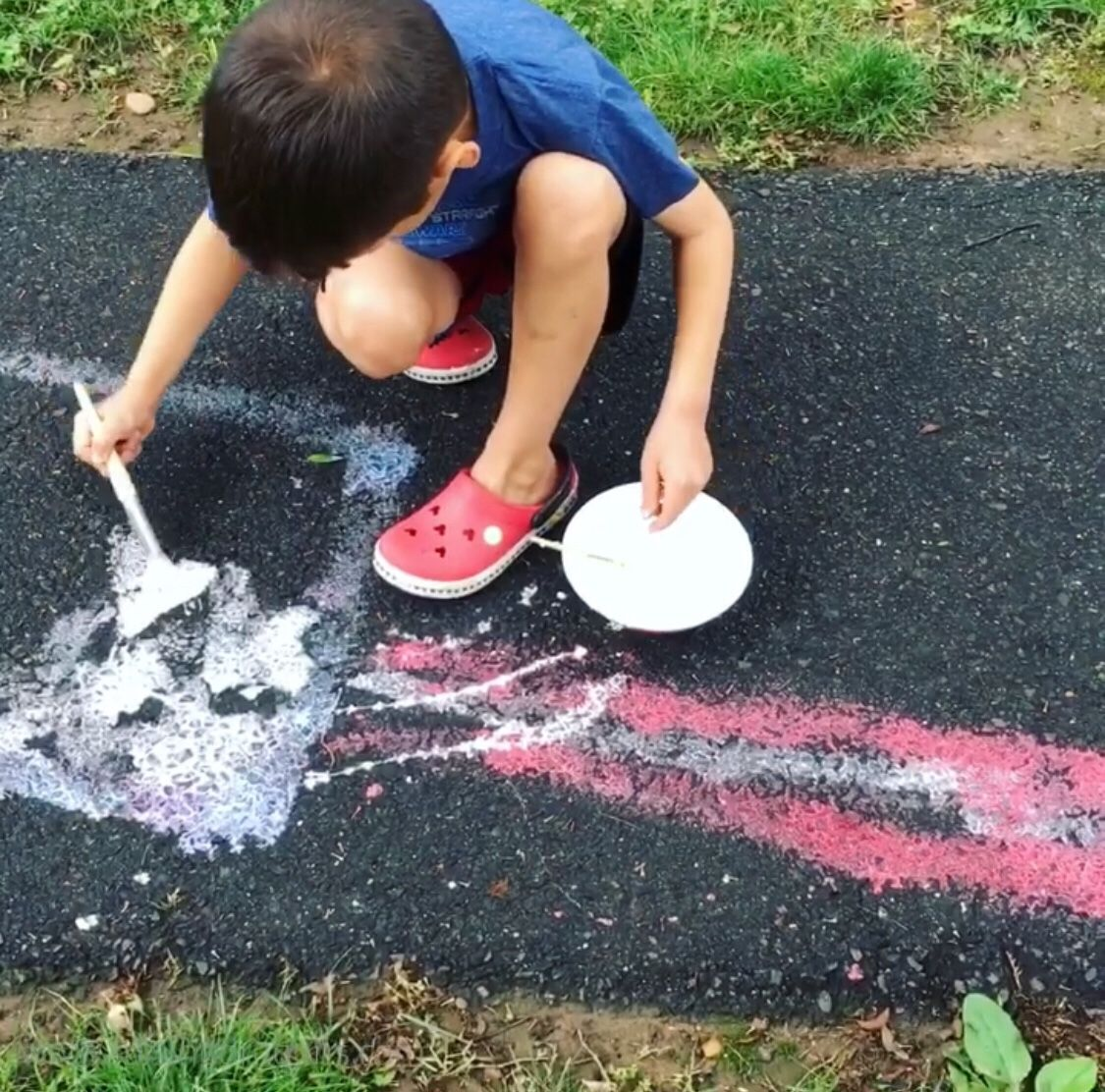 Super Simple Oobleck Sidewalk Paint Ages 2 Raising
