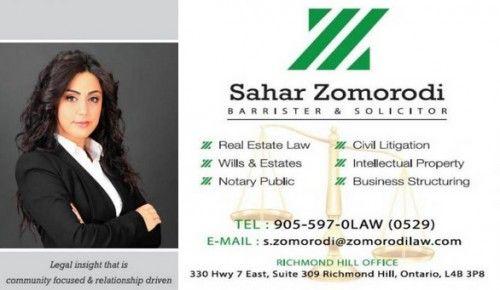 Sahar Zomorodi Notary Public Business Estate Law Business