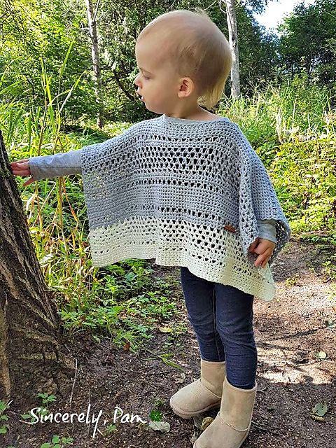Jessica Poncho pattern by Sincerely Pam #babyponcho