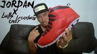 premium selection 804ce cb2e3 Air Jordan 10 Bulls Over Broadway Review + On Feet [Video ...
