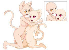 2 Girls Base By Deviko Bocetos Dibujos Dibujos Chibi
