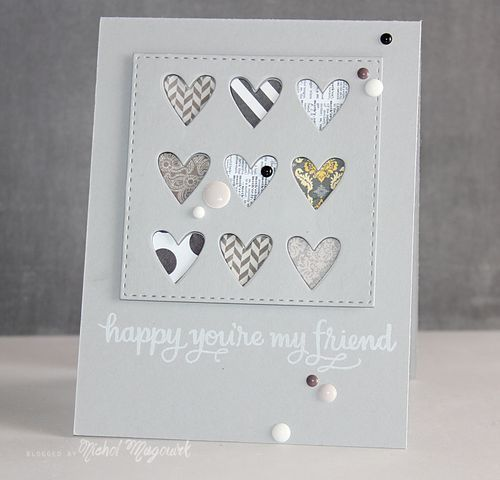 SIMON SAYS STAMP MARCH 2015 CARD KIT | Happy You're My Friend Card (video) #cardkit