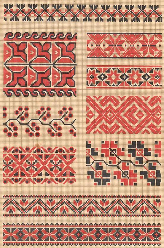 Українські традиційні орнаменти | toallas | Pinterest | Cenefas ...