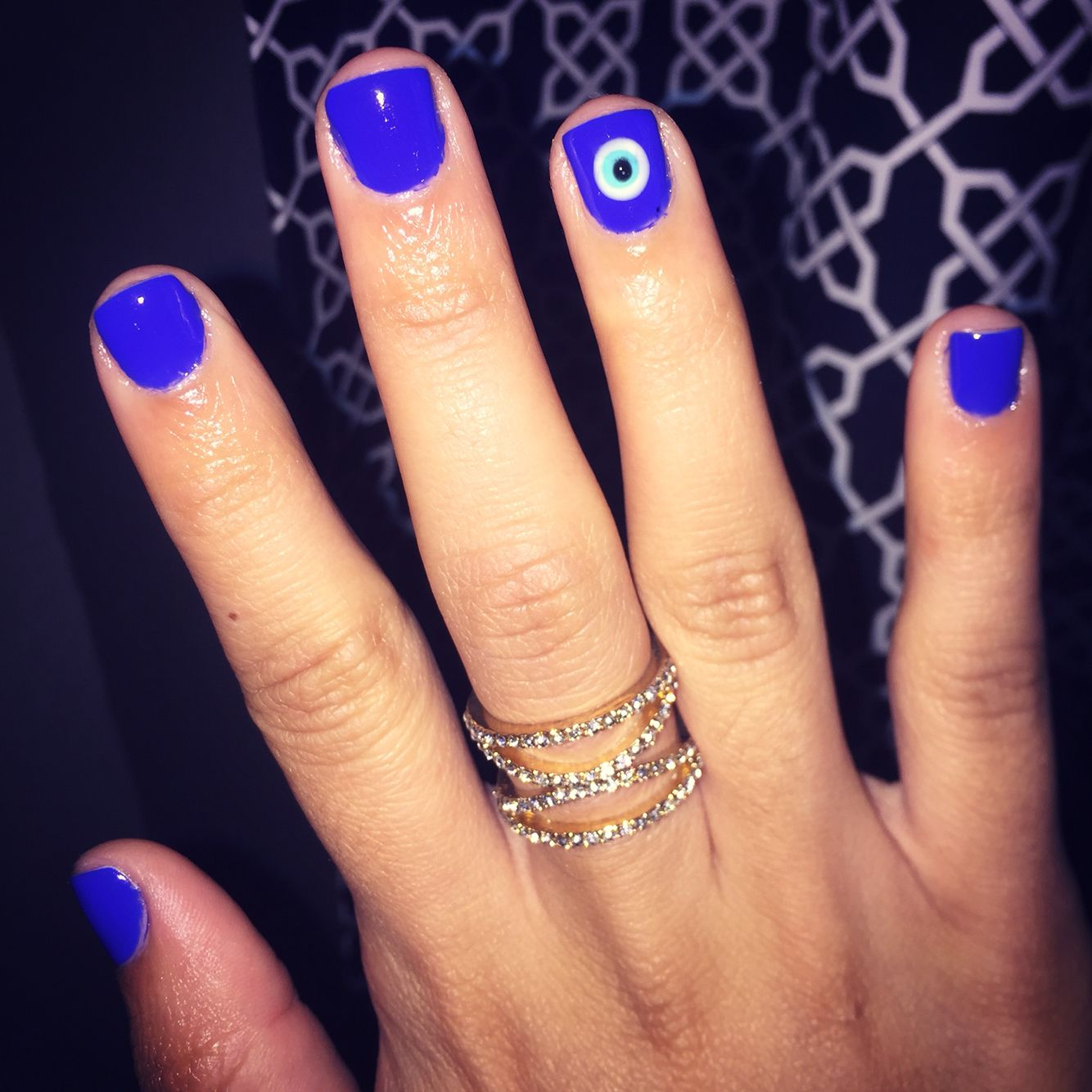 Evil eye nails | Beauty | Pinterest | Evil eye nails, Evil eye and Eye