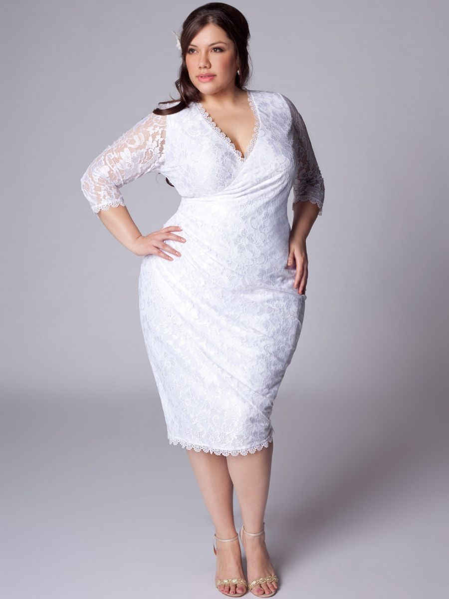 6fffd774770f8 plus size white evening gowns