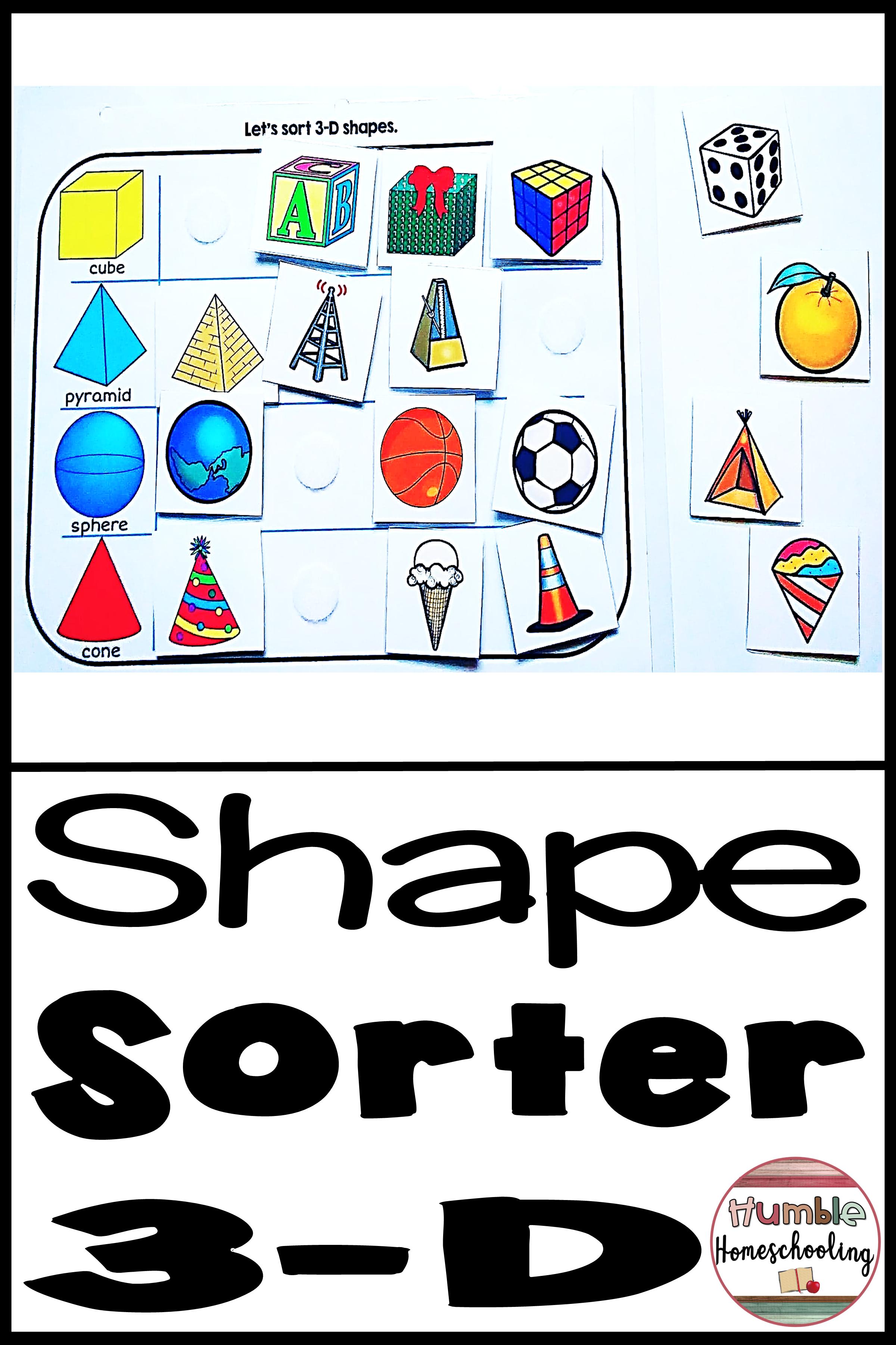 Shape Sorting Worksheet
