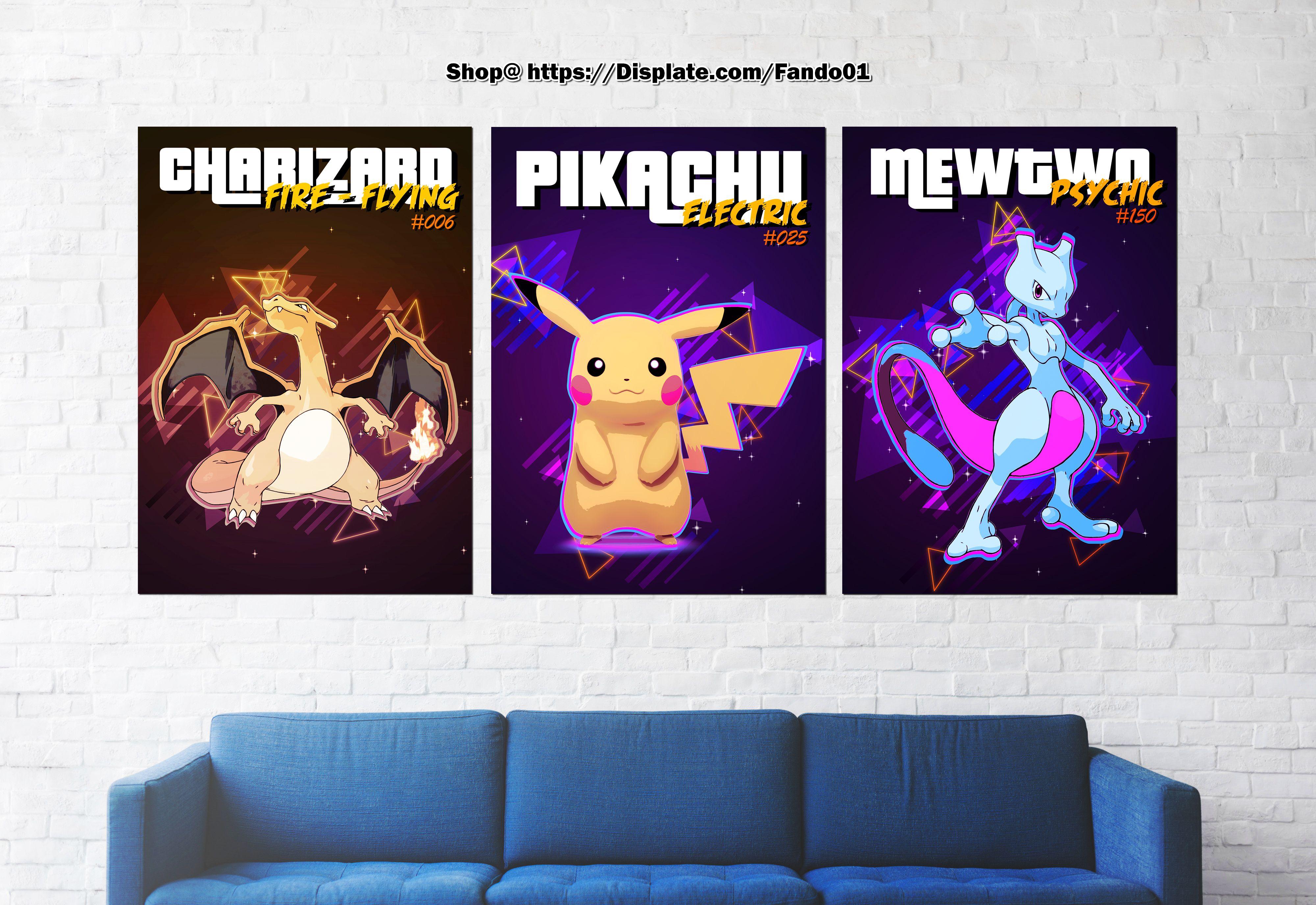 Retro Pokemon | Displate thumbnail