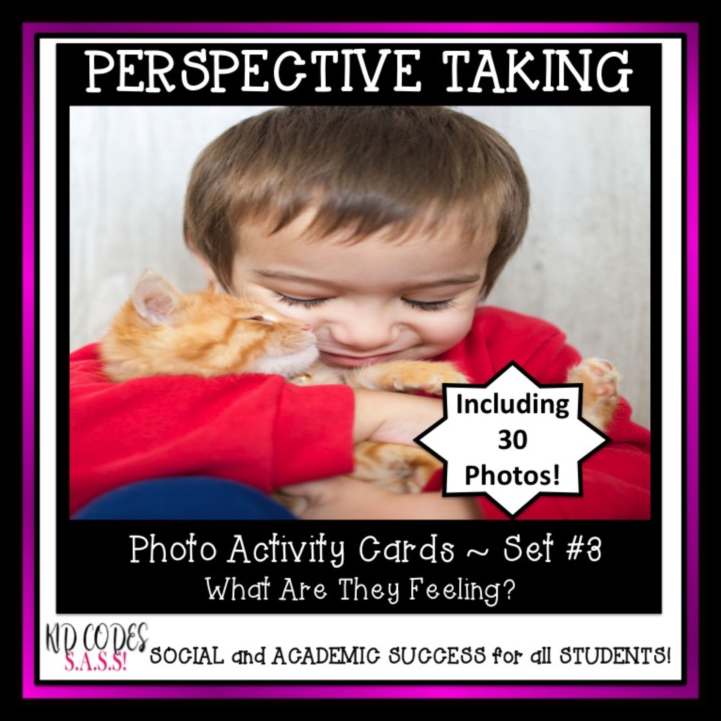 Perspective Taking Photo Activity Cards Set 3 Facial