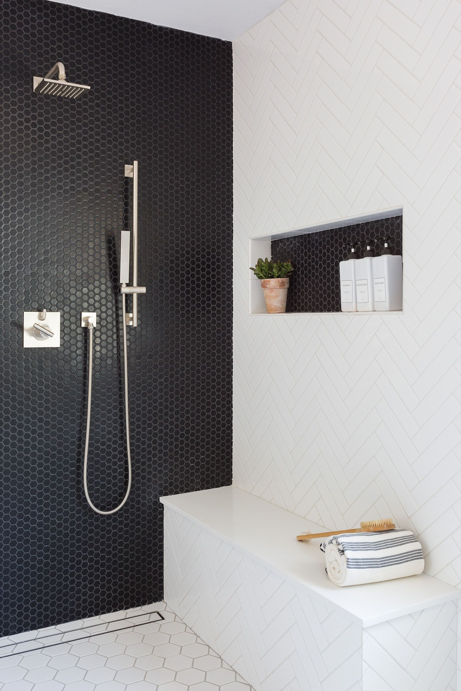A Large Master Bathroom Designed With