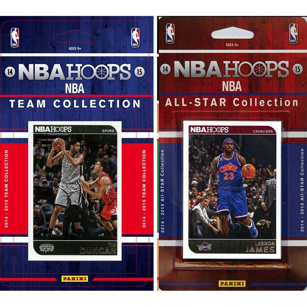 NBA San Antonio Spurs Licensed 2014 15 Hoops Team Set Plus All Star