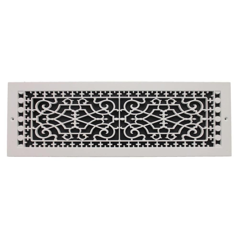 Smi Ventilation Products Victorian Base Board 6 In X 22 In Opening 8 In X 24 In Overall Size Polymer Decorative Return Air Grille White Vbb622 With Images Air Return Cold Air Return Polymer Resin