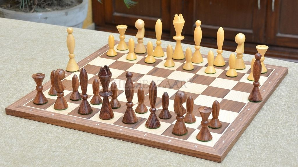 Reproduced 1958 ANRI Space Age Chess Pieces by Arthur