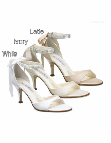 Coloriffics Sierra 2 5 Heel Sandal Coloriffics Shoes Coloriffics Bridal Shoes Coloriffics Prom Sh Wedding Shoes Heels Bridal Shoes White Sandals Wedding
