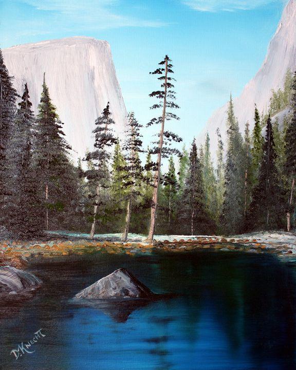 "AK 120 ""YOSEMITE VALLEY 2"" - Dennis Knecht - Paintings & Prints Landscapes &… | ArtPal thumbnail"