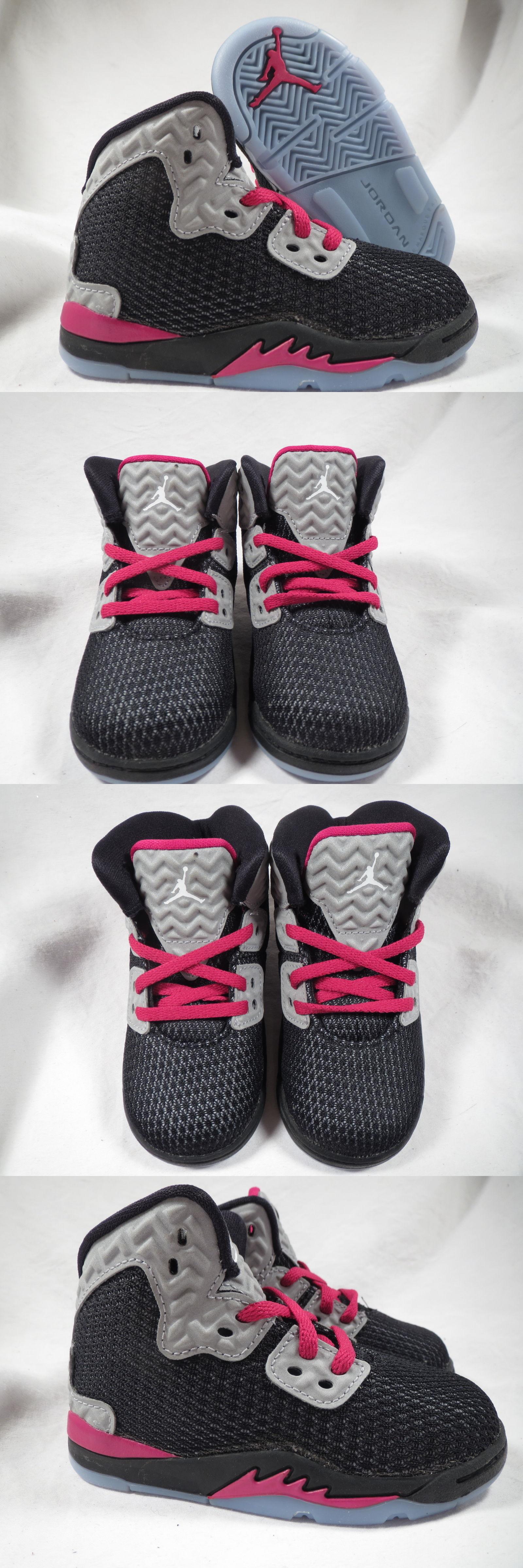 Baby Shoes 147285: Nike Jordan Spike Forty Gt Toddler Boys Girls Leather  Black Fuchia Shoes