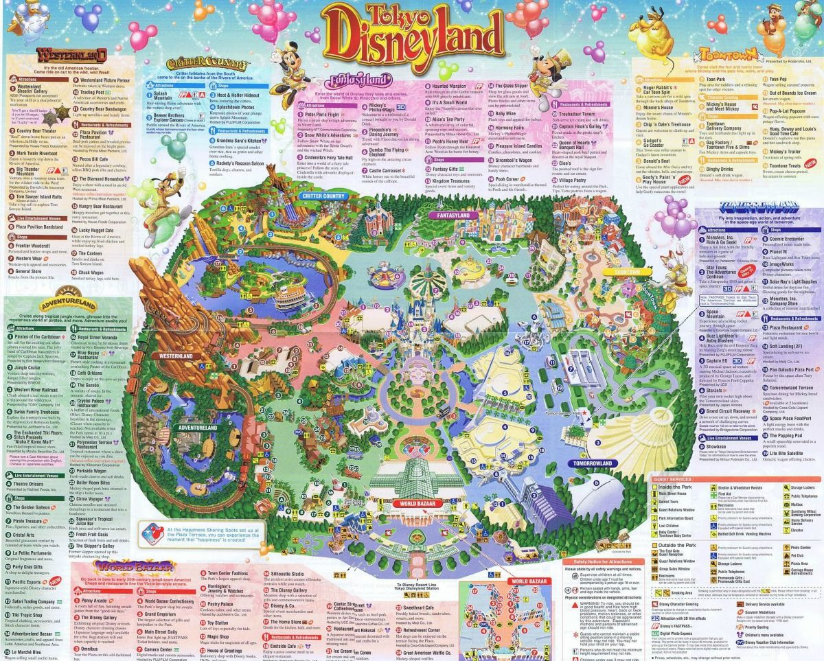 Tokyo disneyland tky dizunrando is an angry ap disneyland and walt disney world nostalgia tokyo disneyland guide map from 2008 gumiabroncs Choice Image