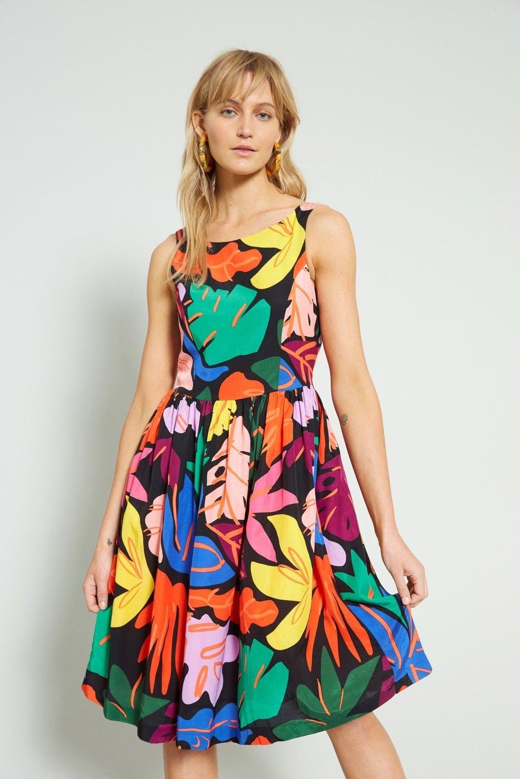 Gorman Summer 18 Frondsense Dress Column Heel Dresses Edgy Summer Fashion Summer Dresses Diy [ 1591 x 1061 Pixel ]