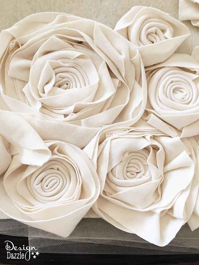 Foyer Rug Juice : Diy rosette fabric rug tablecloths fabrics and design