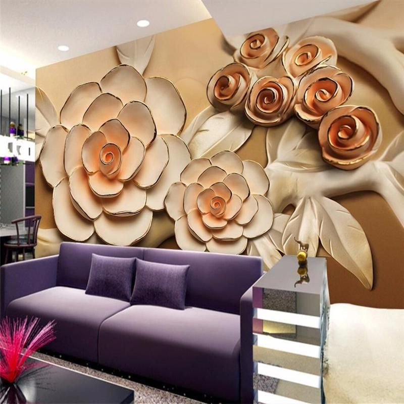 Large 3d European Pearl And Rose Jewelry Tv Background: Large Wall Murals, Wall