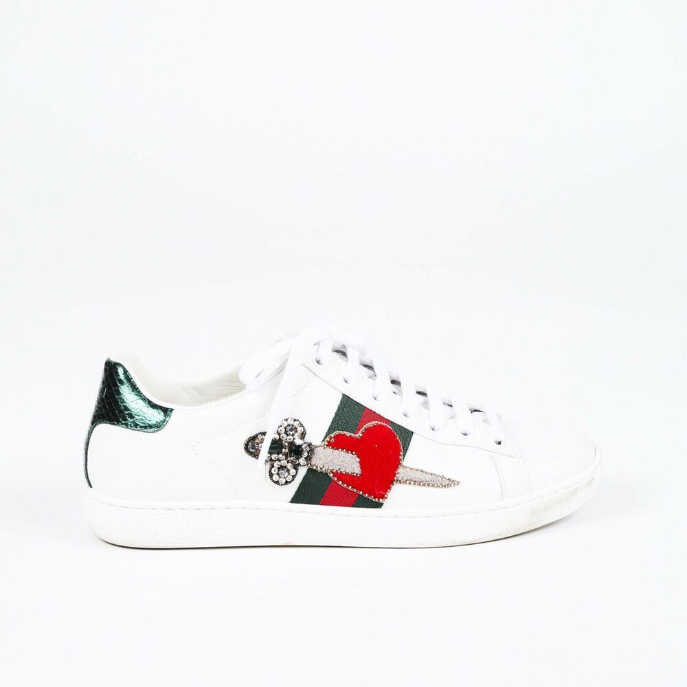 Aceweb ebay #sponsored gucci new ace web heart sneakers sz 37 in