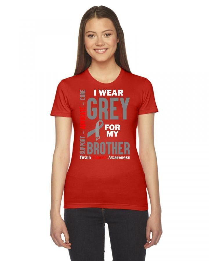 i wear grey for my brother 1 Ladies Fitted T-Shirt