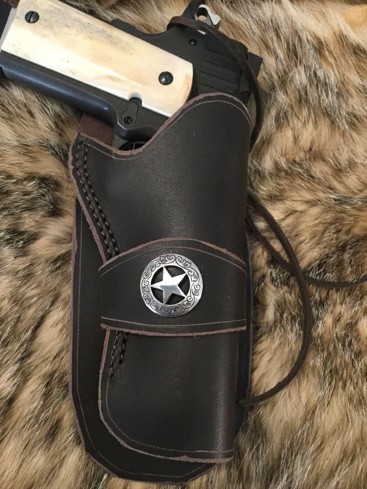Leather 1911 Pistol Holster, Colt, Kimber, Ruger,  45 Caliber 5