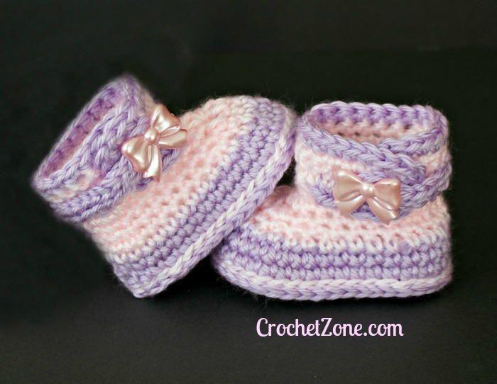 Fuzzy Crochet Booties | Niños tejiendo, Tejidos bebe y Ropita de bebe