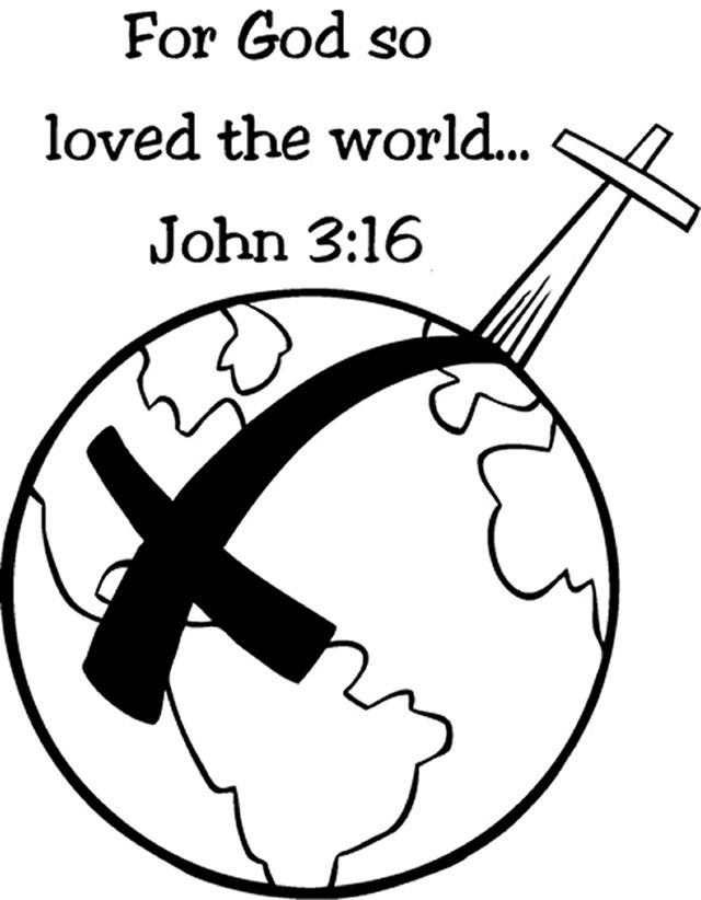 john 3 16 verse coloring pages about jesusgods love to the world - A Child God Coloring Page