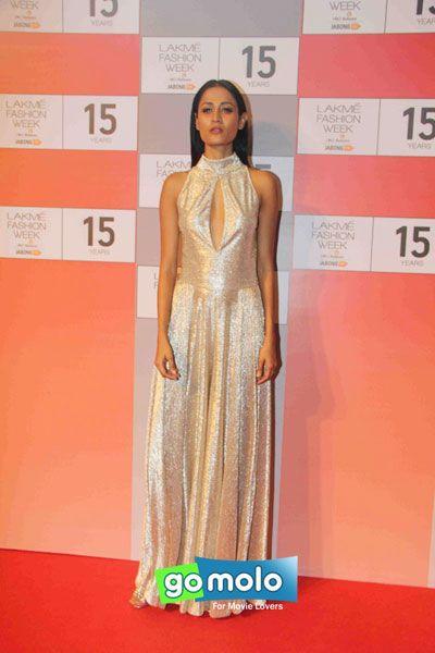 Surelee Joseph at the Curtain raiser of 'Lakme Fashion Week (LFW) 2015' in Mumbai