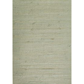 Waverly�Gray Grasscloth Unpasted Textured Wallpaper