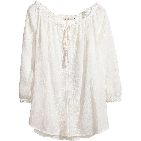 Bohemian Style White Tops