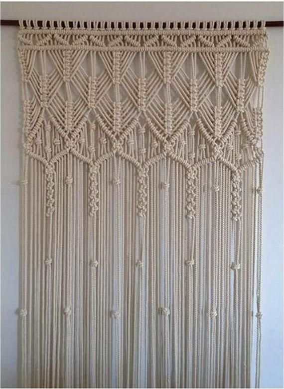 Handmade Macrame Curtain, Rope, Turkish Macrame, L