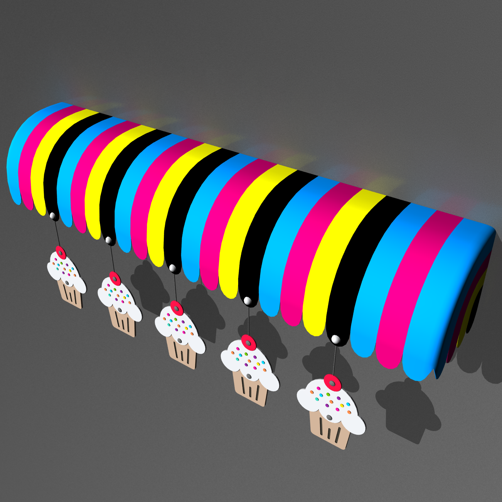 Awning 3d Model 01 Abstract Design 3d Model Abstract