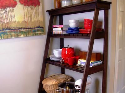 How To Build A Ladder Style Baker S Rack Diy Furniture Building
