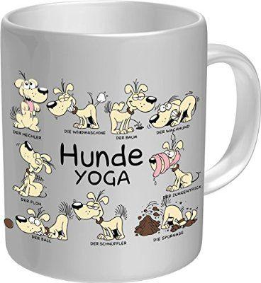 Original RAHMENLOS® Kaffeebecher für Hundefreunde: Hunde-Yoga - Im Geschenkkarton 2611