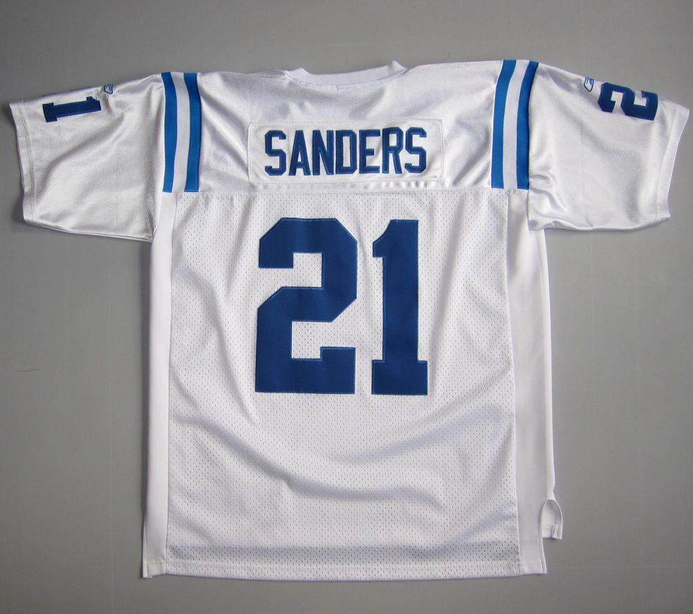 half off 0334b 4e74d Bob Sanders 21 Colts Reebok Jersey Sewn White Super Bowl NFL ...