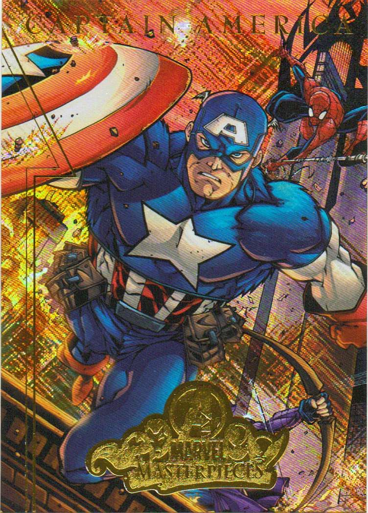 Captain America Foil Card from Marvel Masterpieces 2008 Series 2