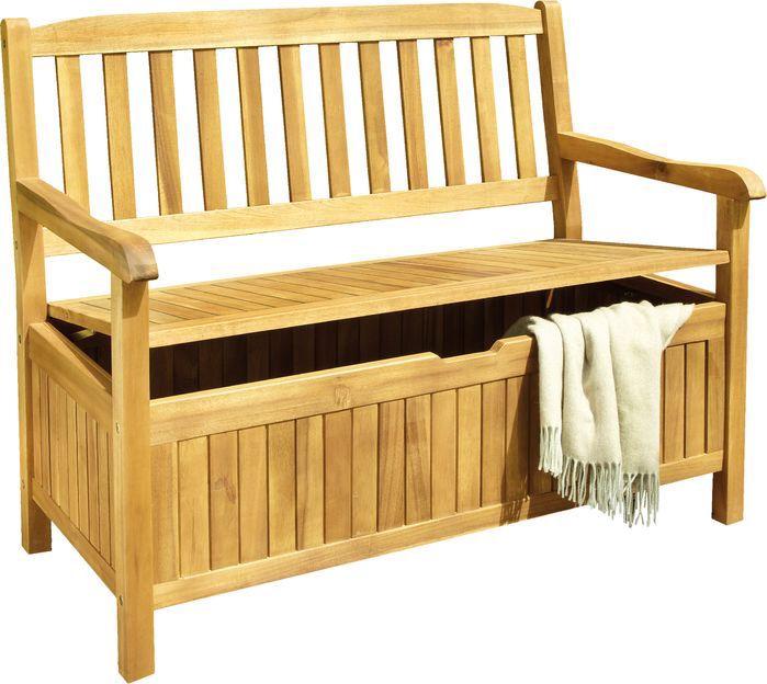 Aachen Wood Storage Bench | Wood storage bench, Wooden ...