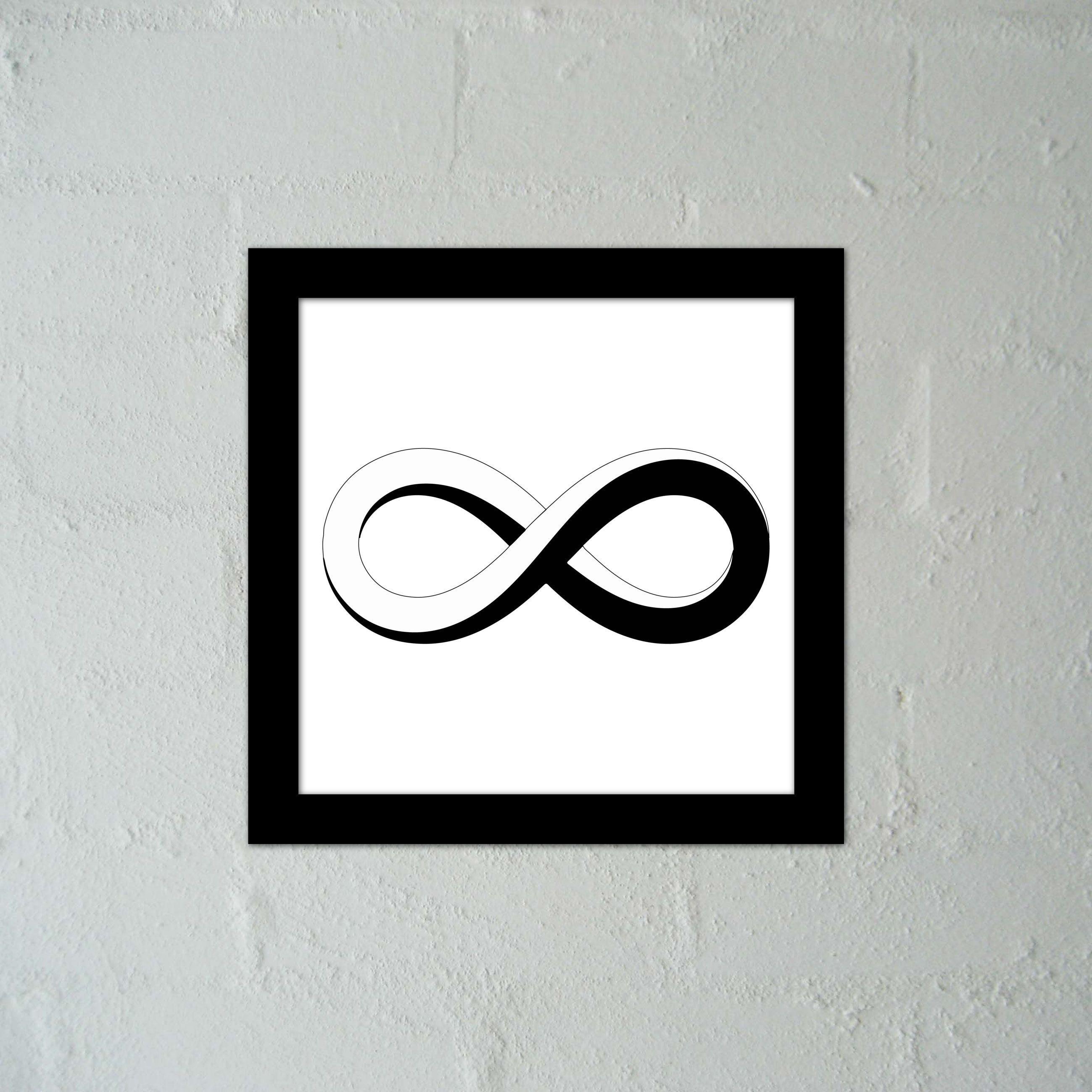 Moebius Infinity Loop In Black & White
